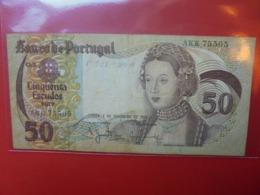 PORTUGAL 50 ESCUDOS 1980 CIRCULER (B.7) - Portugal