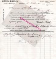SUISSE- LAUSANNE- RARE FACTURE 1895- WAECKERLI & FROELICH- TOILERIE SARRAUX- CHEMISES-1 RUE MAUBORGET - Suisse