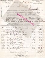 SUISSE- LAUSANNE- RARE FACTURE 1895- WAECKERLI & FROELICH- TOILERIE SARRAUX- CHEMISES-1 RUE MAUBORGET - Switzerland