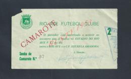 PORTUGAL FOOTBALL BILLET D ENTRÉE MATCH DE FOOT ENTRE RIO AVE VILA DO CONDE  & ESTRELA AMADORA : - Tickets D'entrée