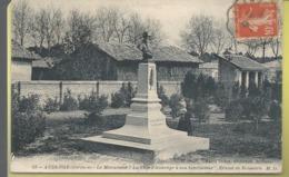 """D33 - BASSIN  D'ARCACHON  - AUDENGE - Le Monument """"La Ville D'Audenge à Son Bienfaiteur"""" ERNEST DE BOISSIERE - France"""