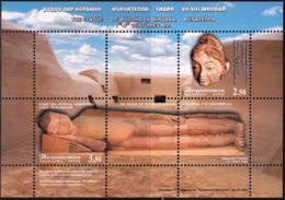 Tajikistan 2008 SS  MNH  Statue Of Buddha - Buddhism