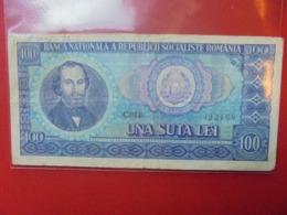 ROUMANIE 100 LEI 1966 CIRCULER (B.7) - Roumanie