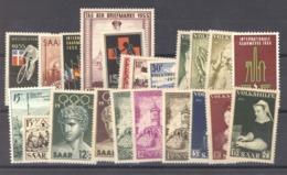 Sarre  :  Yv  339-60  ** - 1947-56 Occupation Alliée