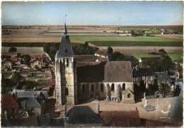 CPSM DE DIGNY  (EURE ET LOIR)  EN AVION AU-DESSUS DE ....... L'EGLISE - Autres Communes