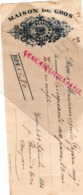 SUISSE - GENEVE-  RARE TRAITE 1893- MAISON DE GROS BEAUVERD & METRA- - Svizzera