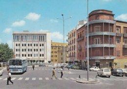 MATERA - PIAZZA MATTEOTTI -BAR DEL CACCIATORE CON INSEGNA PUBBLICITARIA BIRRA PERONI - AUTO - BUS - 1979 - Matera