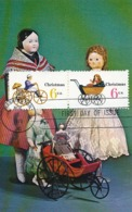 D38153 CARTE MAXIMUM CARD FD 1970 USA - DOLLS CHILDREN'S PUSHCART CP ORIGINAL - Puppen