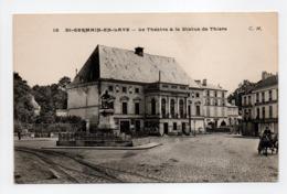 - CPA SAINT-GERMAIN-EN-LAYE (78) - Le Théâtre & La Statue De Thiers - Photo-Edition Malcuit N° 15 - - St. Germain En Laye
