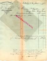 SUISSE - MOILLESULAZ PRES GENEVE- RARE FACTURE 1892- J. FAVRE -SPIRITUEUX VERMOTH-LIQUEURS FINES SIROPS - Switzerland