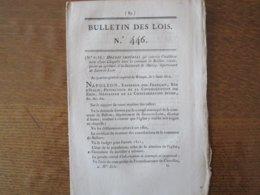AU QUARTIER-GENERAL IMPERIAL DE WITEPSK LE 7 AOÛT 1812 BULLETIN DES LOIS N° 46 NAPOLEON CERTIFIE CONFORME LE DUC DE MASS - Décrets & Lois