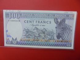 RWANDA 100 FRANCS 1989 PEU CIRCULER  (B.7) - Rwanda