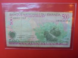 RWANDA 500 FRANCS 1998 CIRCULER  (B.7) - Ruanda