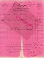 SUISSE - MOILLESULAZ PRES GENEVE- RARE FACTURE 1891- J. FAVRE -SPIRITUEUX VERMOTH-LIQUEURS FINES SIROPS - Switzerland