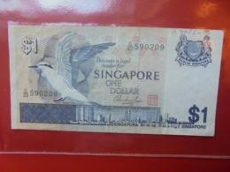 SINGAPOUR 1$ 1976 CIRCULER  (B.7) - Singapour