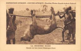 Oubangui-Chari Expédition Citroën Chasse Au Lion - Centrafricaine (République)