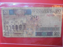 SOMALIE 20 SHILIN 1987 CIRCULER  (B.7) - Somalia