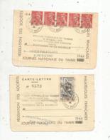 CACHET SPECIAL NON PARVENU Dans La Forteresse De La Rochelle ,journée Nationale Du Timbre,,31-12-1944 , LOT DE 2 - Poststempel (Briefe)