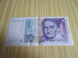Allemagne.Billet 10 Deutsche Mark 02/01/1989. - [ 7] 1949-… : FRG - Fed. Rep. Of Germany