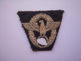 Aigle De Police Allemande Tissu WW2 (Original) !!! - 1939-45