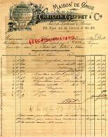 SUISSE - GENEVE - RAREFACTURE 1898- CHRISTIN GARDET -LACHENAL & PERRIN- MAISON EN GROS MERCERIE BONNETERIE- - Svizzera