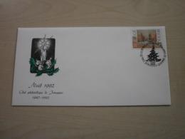 Enveloppe Club Philatélique Jemappes NOEL 1992 - Autres