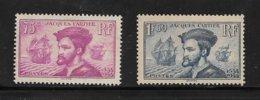 France Timbres De 1934 N°296/97  Neuf **  Cote 220€  Voir Scans - France