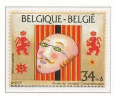 D - [153525]TB//**/Mnh-[2584] Belgique 1995, Musée Du Masque Et Du Carnaval à Binche, Du Bloc 70, SNC - Carnival
