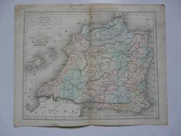 VIEUX PAPIERS - CARTE Espagne : Planche Extraite Du Petit Atlas Universel De Géographie Moderne  Par M. Achille MEISSAS - Mapas Geográficas