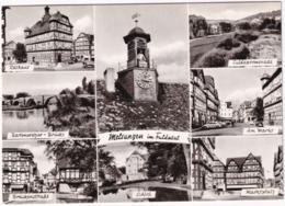 Melsungen Im Fuldatal - Bartenwetzer Brücke, Schloß, Rathaus,Markt, Brückenstraße, Marktplatz, Fuldapromenade - Melsungen
