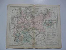 VIEUX PAPIERS - CARTE Allemagne : Planche Extraite Du Petit Atlas Universel De Géographie Moderne - M. Achille MEISSAS - Cartes Géographiques