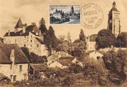 YT 905 - Arbois (Jura) - Carte Maximum 1951 - Cartas Máxima