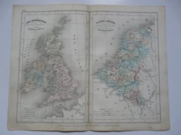VIEUX PAPIERS - CARTE : Planche 9 Extraite Du Petit Atlas Universel De Géographie Moderne - M. Achille MEISSAS - Cartes Géographiques