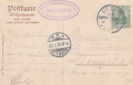 France Alsace Carte Urbeis 1905 - Marcophilie (Lettres)