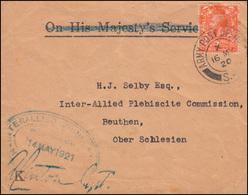 Großbritannien Feldpost ARMY POST OFFICE 16.5.1920 Auf Brief Nach Oberschlesien - Zonder Classificatie