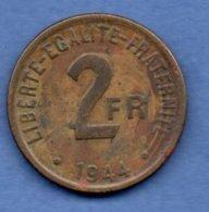 France Libre - 2 Francs 1944 - état TTB - I. 2 Francs