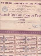 Alb 4) Actions & Titres >  Société Normande De Mines 1936 (N= 1) - Andere