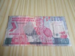 Madagascar.Billet 500 Ariary - 2500 Francs. - Madagascar
