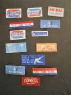 Liban Lebanon Stamps  13 Labels Air Mails - Tourism