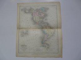VIEUX PAPIERS - CARTE Amérique : Planche Extraite Du Petit Atlas Universel De Géographie Moderne - M. Achille MEISSAS - Cartes Géographiques
