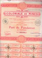 Alb 4) Actions & Titres >  Coloniale De Mines 1930 (N= 2) - Andere
