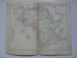 VIEUX PAPIERS - CARTE Afrique : Planche Extraite Du Petit Atlas Universel De Géographie Moderne - M. Achille MEISSAS - Cartes Géographiques