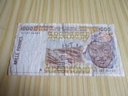 Côte D'Ivoire.Billet 1000 Francs. - Costa D'Avorio