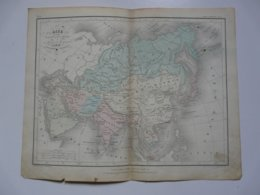 VIEUX PAPIERS - CARTE Asie : Planche Extraite Du Petit Atlas Universel De Géographie Moderne - M. Achille MEISSAS - Mapas Geográficas