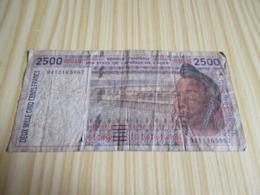 Côte D'Ivoire.Billet 2500 Francs. - Côte D'Ivoire