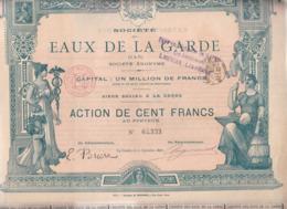 Alb 4) Actions & Titres > Société Des Eaux De La Garde Var1897 (N= 3) - Andere