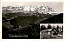 Naturfreundehaus St. Anton, Oberegg Mit Ausblick Auf' Säntis Und Altmann - 2 Bilder * 27. 7. 1961 - AI Appenzell Innerrhoden
