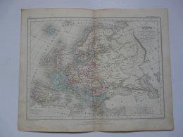 VIEUX PAPIERS - CARTE : Planche 2 Extraite Du Petit Atlas Universel De Géographie Moderne Par M. Achille MEISSAS - Mapas Geográficas