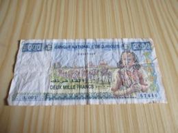 Djibouti.Billet 2000 Francs. - Djibouti