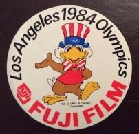 ERINNOFILO CINDARELLA - ADESIVO-VINTAGE-STICKER-FUJI-FILM-LOS-ANGELES-1984-OLYMPICS - Vignetten (Erinnophilie)